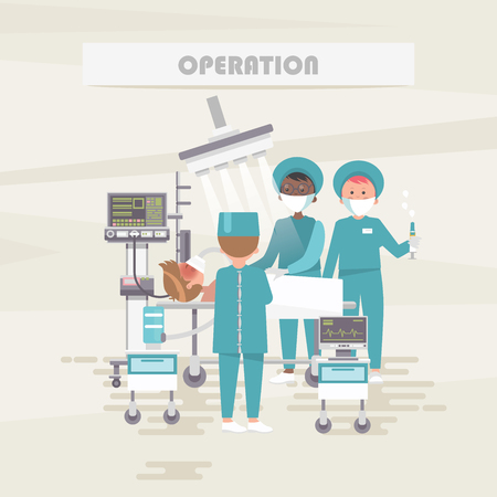 Operation. Medical vector concept. Healthcare and treatment illustration. Ilustração