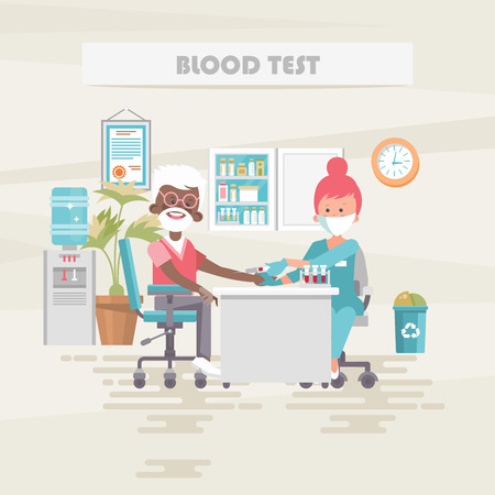 Blood test. Medical vector concept. Healthcare and treatment illustration.