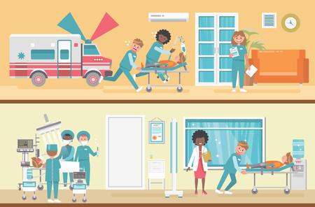 Medical vector concept. Healthcare and treatment illustration. Foto de archivo - 118976955