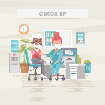 Check up. Medical vector concept. Healthcare and treatment illustration.