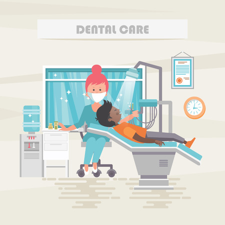 Dental care. Medical vector concept. Healthcare and treatment illustration.