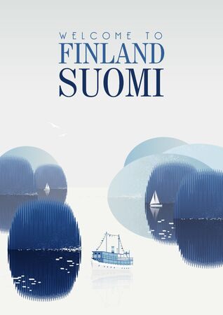 Finland. Travel poster. Welcome to Suomi.