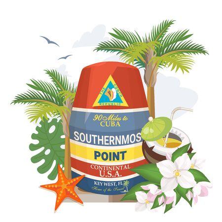 Najbardziej wysunięty na południe punkt boi Key West