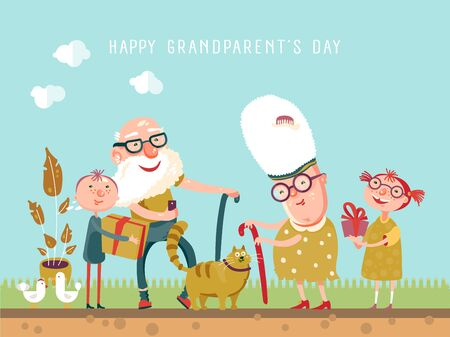 Vector greeting card to Grandparents day