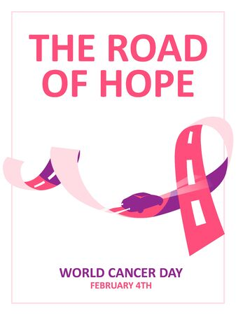 Vector colorful poster to World cancer day in February