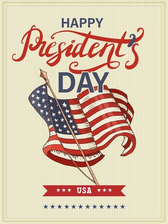 Vector illustration to President's Day in the United States of America