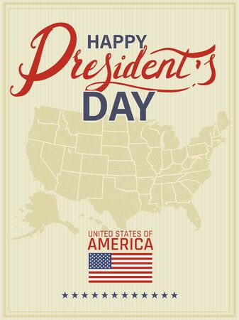 Vector illustration to Presidents Day in the United States of America 向量圖像