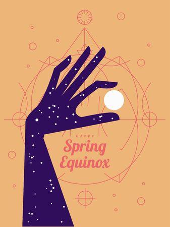 Equinox. Modern concept design. Flat style Vecteurs