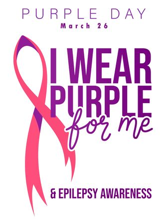 World epilepsy day. Purple day, March 26. Colorful purple concept 版權商用圖片 - 141775337