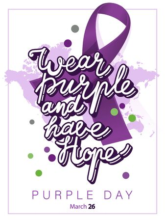 World epilepsy day. Purple day, March 26. Colorful purple concept Фото со стока - 141775338