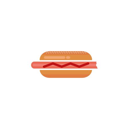 Hotdog. Vector isolated on white background