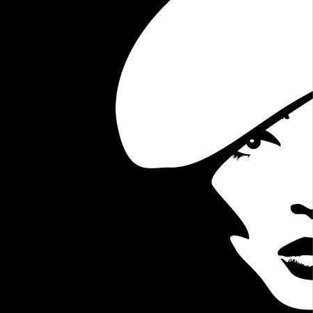 Imagen de la mujer en estilo retro