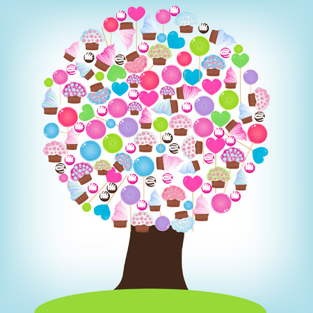 Candy tree Vector