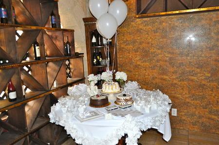 Cake table Reklamní fotografie