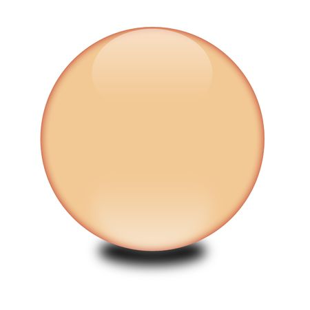 3d peach colored sphere.  Eye catching glossy orb for your e-business or website.