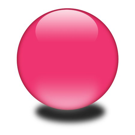 3d pink colored sphere.  Eye catching glossy orb for your e-business or website. Zdjęcie Seryjne