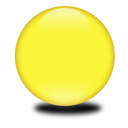 3d yellow colored sphere.  Eye catching glossy orb for your e-business or website.
