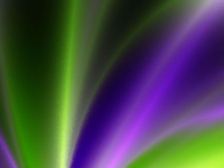 Blurred Green and purple spotlight.  A soft blend of green and purple. Stock Photo