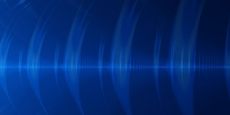 Blue sound wave abstract background.  A feeling of communication.  Talking or singing