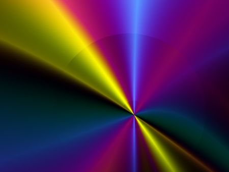 Abstract Colorful Light Effects.  Blue, yellow and pink light effect merging to the center.