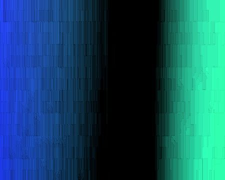 Communication stonewall.  Abstract blue and green divided by a piller of black space.