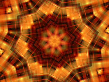 Star Autumn Background displaying a red, black, orange, yellow and green pattern with light effect.