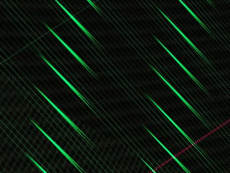 Abstract Digital Green Background.  Modern streaks of green with a slight touch of fuchsia.
