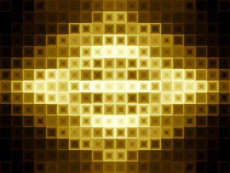 光の効果と抽象的なゴールドの背景。現代の金のタイルのデザイン。 写真素材