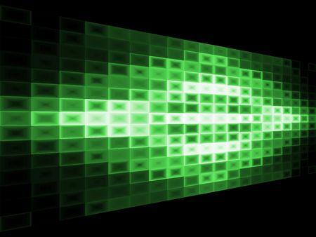 조명 효과와 추상 녹색 배경입니다. 3d 광고 판 효과입니다.