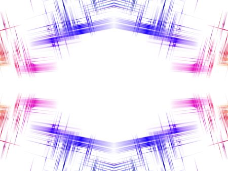 copy center: Abstract plaid background.  Blue pink and orange surround white copy center. Stock Photo