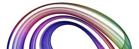 3d 추상 흰색 복사본 공간으로 여러 가지 빛깔 된 디자인입니다.