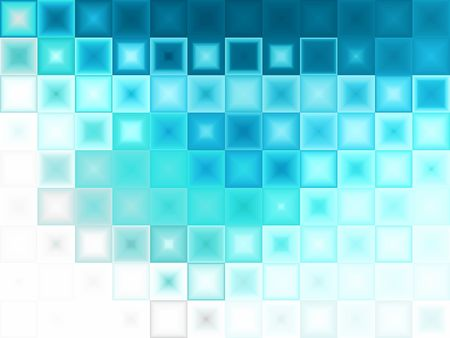 Abstract Blue ice cubes background.  Light effect and white copy space.