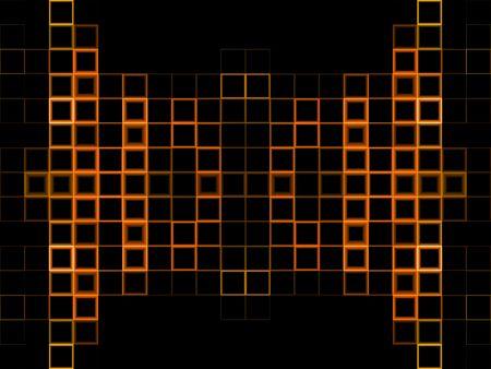 검은 복사본 공간이 추상 오렌지 블록 배경
