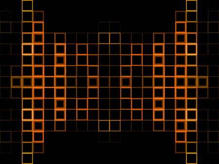 Abstract orange block background with black copy space Stock Photo