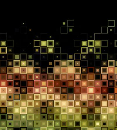 Abstract tile background with light effect and black copy space.