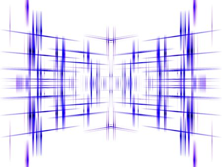 Blue abstract grid background with copy space