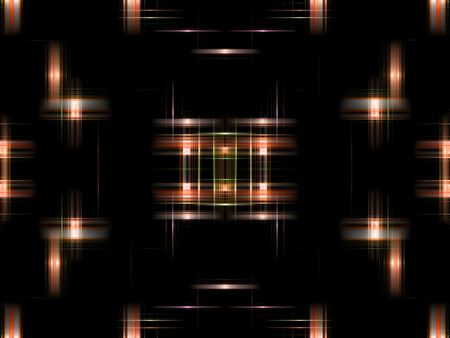 Orange digital abstract background.  Modern design with shades of orange and light effect Imagens