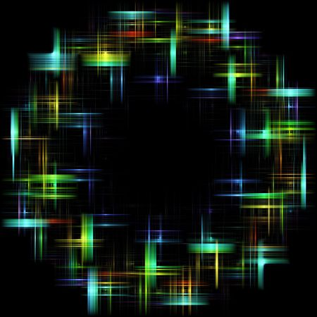 copy center: Abstract Mulicolored Circle with light effect and black copy center.