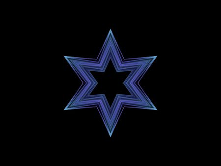 Blue Star with black background