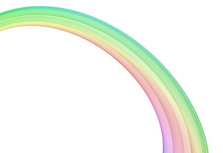 抽象的なデザインの白いコピー スペース。 虹。