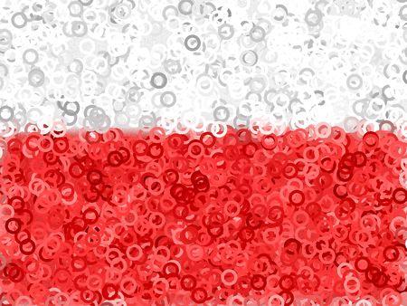 빨간색 흰색 추상적 인 배경