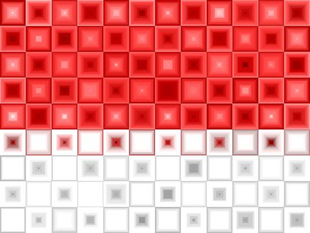 Red White Tile Abstract Background