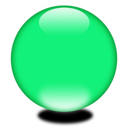 3d Holiday Green Sphere Stock Photo