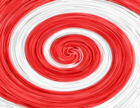 white background: Red White abstract spiral background Stock Photo