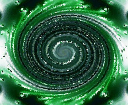 緑の織り目加工の渦巻 写真素材 - 2080304