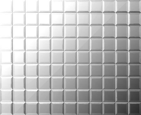 titanium: Metal tile background Stock Photo