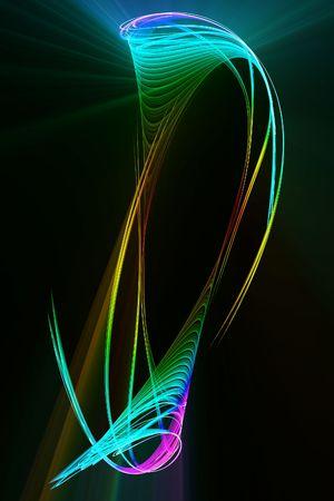 조명 효과와 추상 여러 가지 빛깔 된 퍼 널 디자인입니다. 스톡 콘텐츠