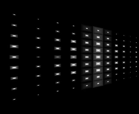 White lights with black background design Stock Photo