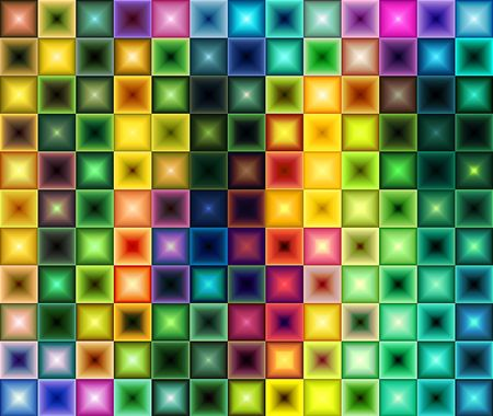 Multicolored tile background