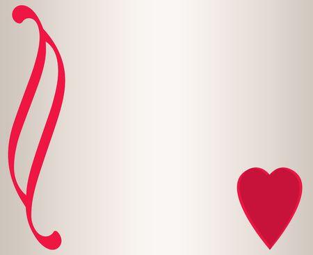 Red heart design